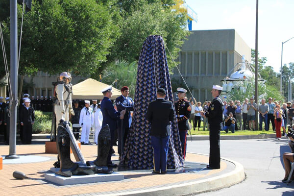 Dedication & unveiling ceremony of US Naval sculpture