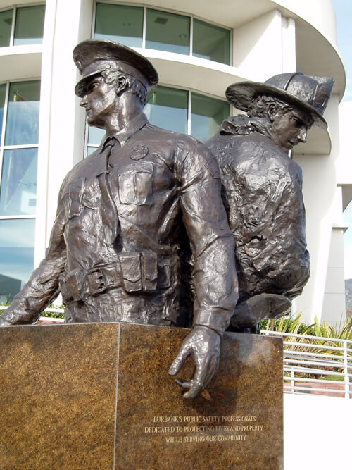 Monumental-Bronze-Public-Art-display-in-Burbank-full-view-additional-Full-view