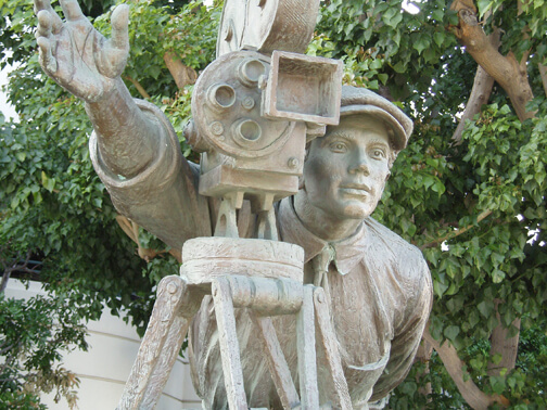 Monumental Bronze Sculpture cameraman