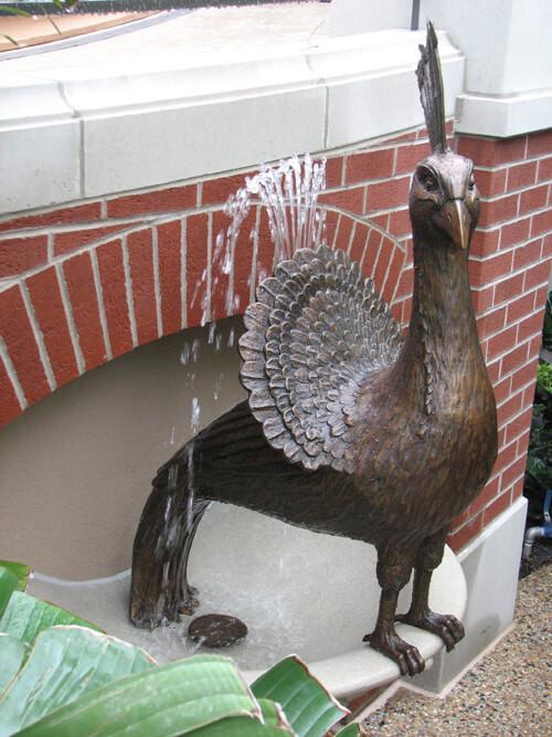 Peacock arboretum sculpture