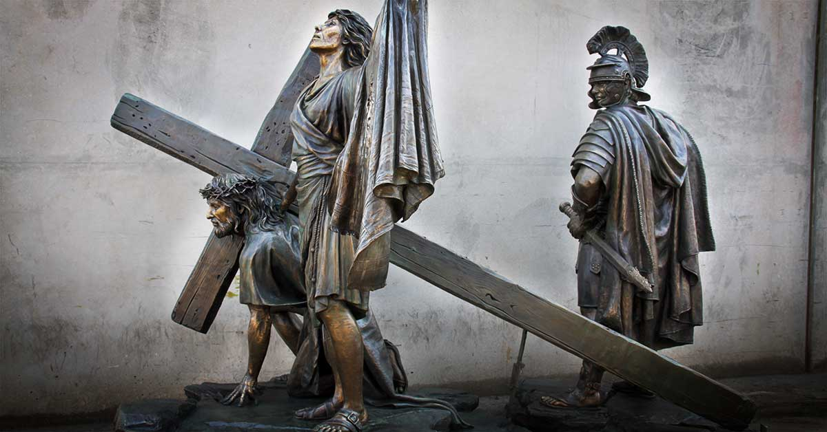 Jesus Christ and Centurian Monumental Bronze Sculpture by American Fine Arts
