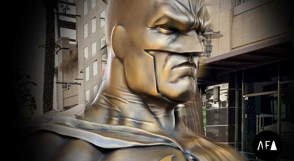 Batman Unveiled in Burbank, Cast, Finished and Installed by American Fine Arts