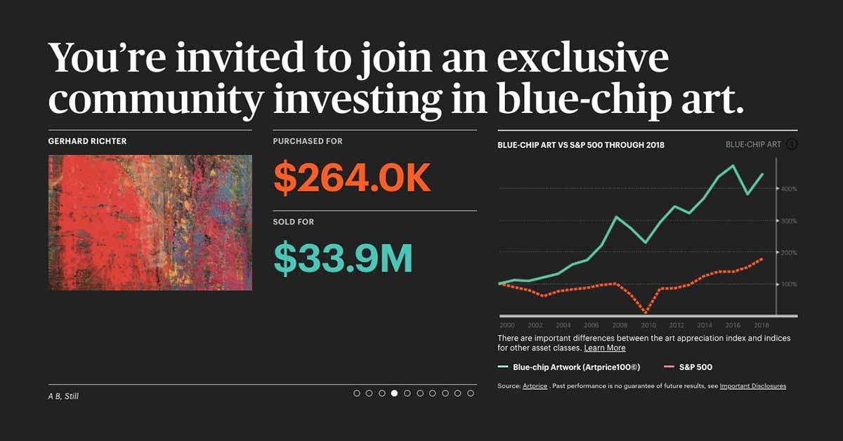 You're invited to join an exclusive community investing in blue-chip art.