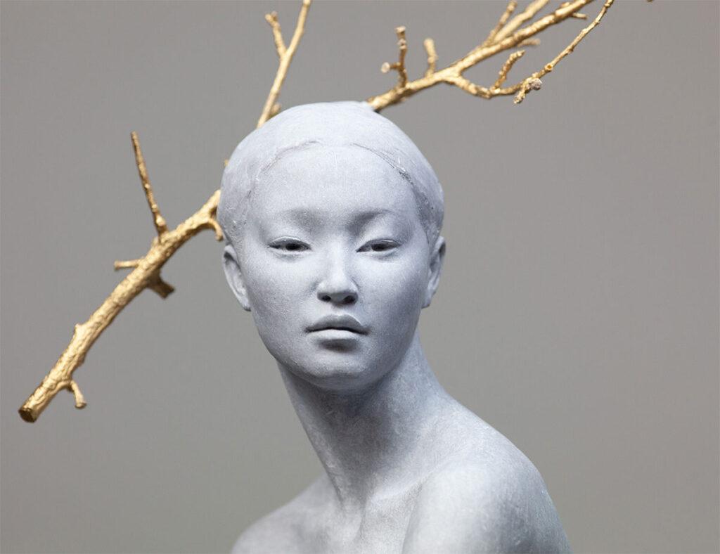 Detail of Haiku 2019 bronze