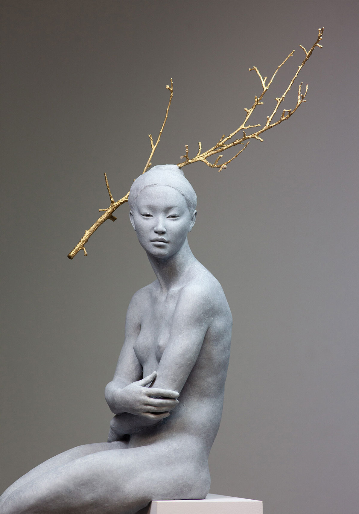 "Detail of ""Haiku"" (2019), bronze by Coderch & Malavia"
