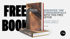 """Patrick V. Kipper's """"Patinas for Silicon Bronze. Free book offer from American Fine Arts"""