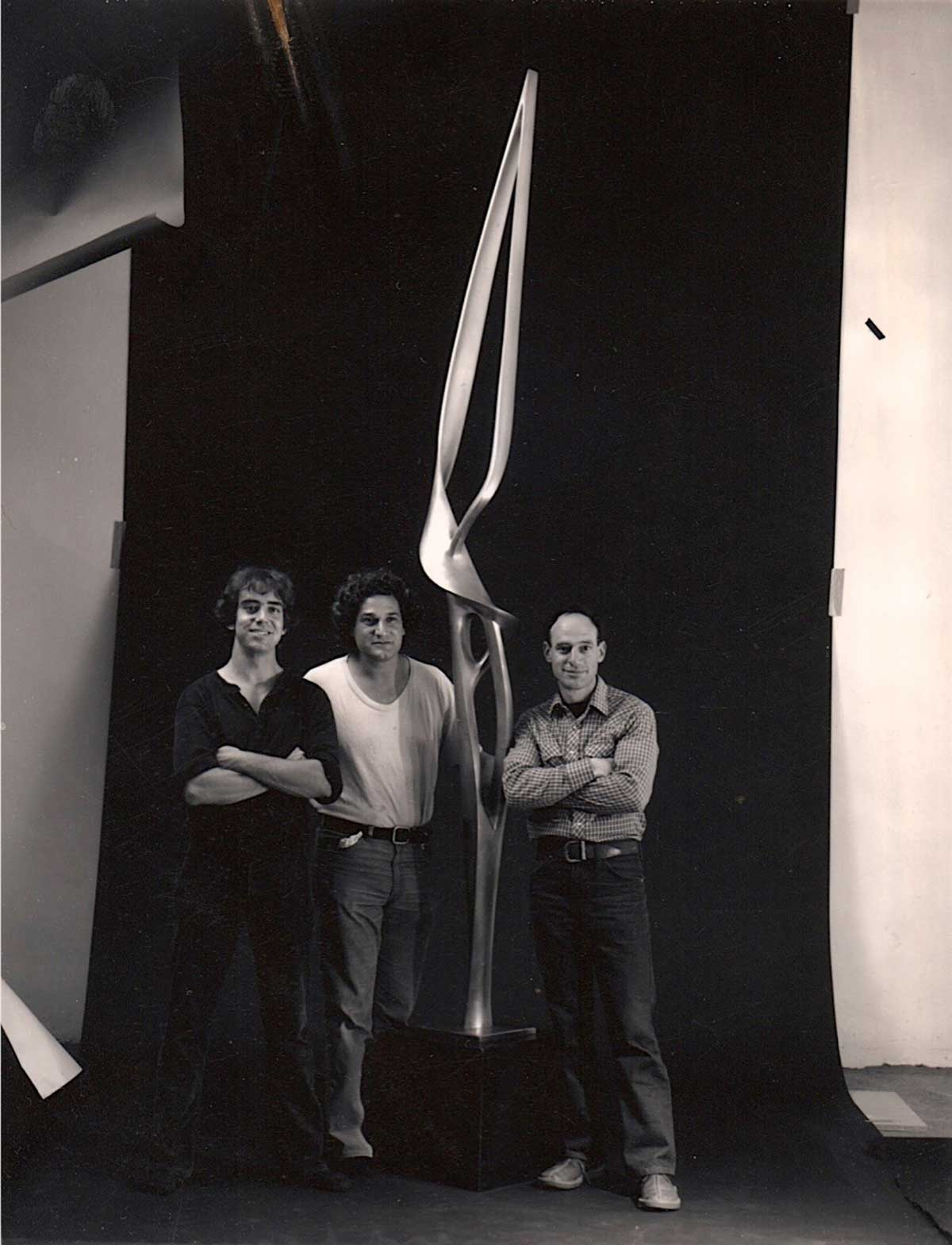 Elliot Midwood, AFA Founder far right, the client Jonathan Hirschfeld center, and his photographer on the right.