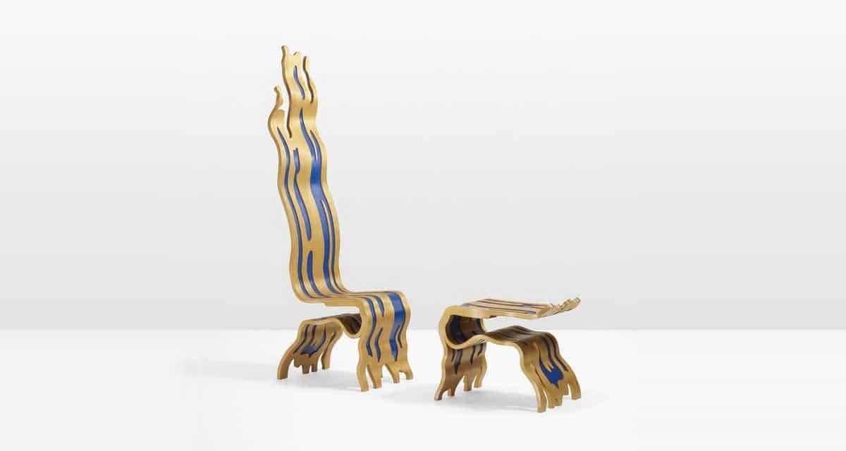 Roy Lichtenstein's Brushstroke Chair & Ottoman